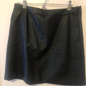 Topshop mini leather skirt